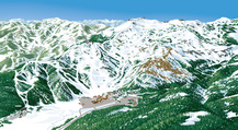 VistaMap rendering of Squaw Valley USA without informational overlays. copyright 2012 Gary Milliken / VistaMap