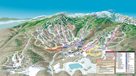 The VistaMap trail map for Stowe Mountain Resort has been updated every year to include the gradual improvement to the base facilities as well as other changes on mountain. copyright 2005 Gary Milliken / VistaMap