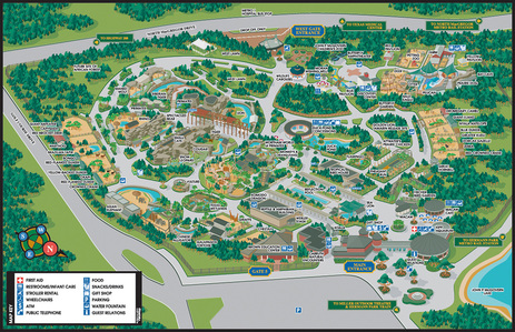 Wayfinding and navigating a Zoo can be a complicated task, the VistaMap map of the Houston Zoo is a great example of the clarity and detail utilized to enhance visual cues. copyright 2004 Gary Milliken / VistaMap