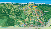 The VistaMap Frontside trail map of Vail involves a vast amount of wayfinding information. copyright 2016 Gary Milliken / VistaMap