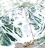 Close up image of KT-22 from the VistaMap Squaw Valley USA trail map. copyright 2012 Gary Milliken / VistaMap
