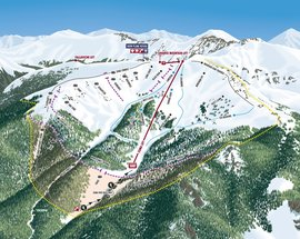 VistaMap new trail map for MONTEZUMA BOWL at Arapahoe Basin, Colorado, copyright 2017 by Gary Milliken, VistaMap