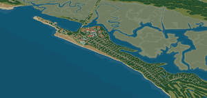 VistaMap Sea Island Resort map zoomed in to Sea Island home of the Cloister, Beach Club and Cottages. Copyright 2016 Gary Milliken / VistaMap