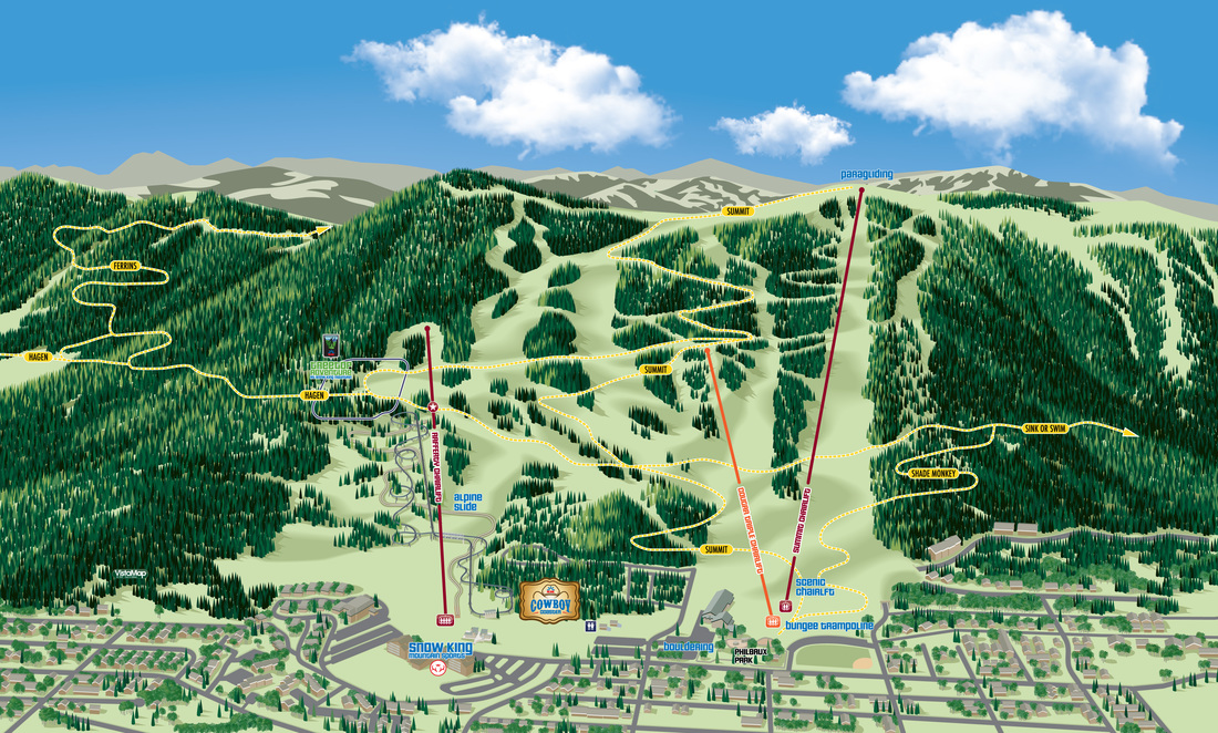 VistaMap gallery of trail map and resort guest wayfinding map ... on